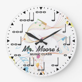 Music Note Personalizable Wall Clock
