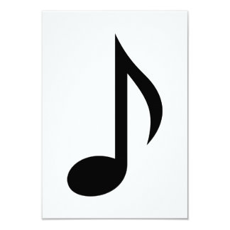 Music note personalized invitations