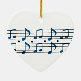 Music Note Scale Ceramic Heart Decoration
