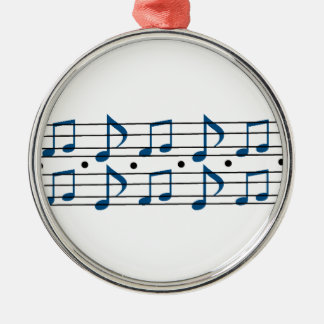 Music Note scale Silver-Colored Round Decoration