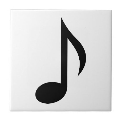 Music note ceramic tile
