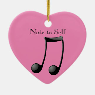 Music - Note to Self Ceramic Heart Decoration