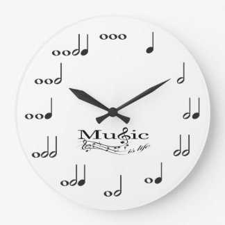 Music Note with Music is Life saying Clock