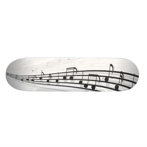music notes 21.6 cm skateboard deck