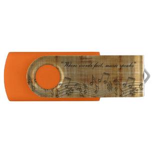 Music Notes 8 GB Swivel USB Flash Drive