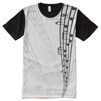 Music Notes All-Over Print T-Shirt