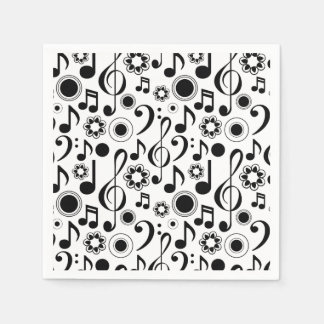 Music Notes and Clefs Disposable Napkin