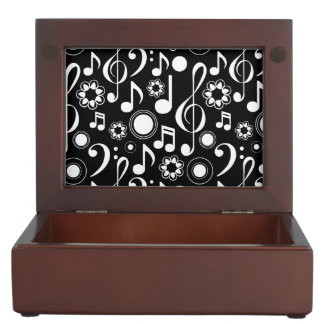 Music Notes and Clefs Memory Box