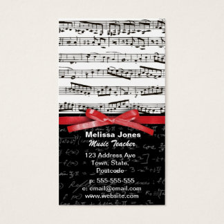 Music notes and math equations