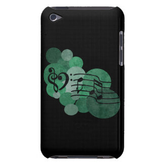 Music notes and polka dots – green ipod case iPod touch case