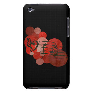 Music notes and polka dots (red) ipod case barely there iPod covers