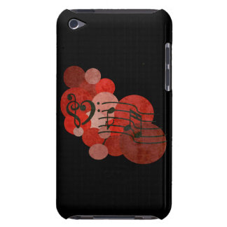 Music notes and polka dots (red) ipod case iPod touch Case-Mate case