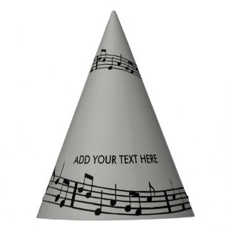 MUSIC NOTES AND VIOLIN/CELLO PARTY HATS DESIGN