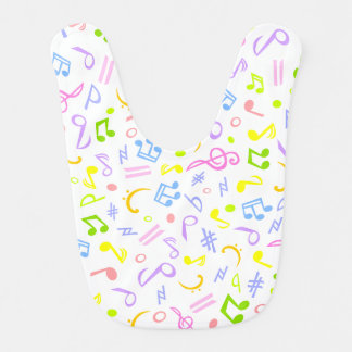 music notes baby bibs