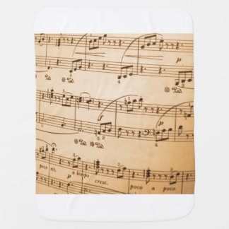 Music Notes Background Baby Blankets