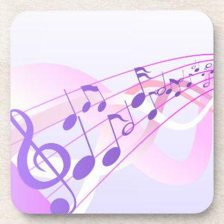 Music Notes Background Beverage Coaster