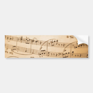 Music Notes Background Bumper Sticker