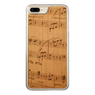 Music Notes Background Carved iPhone 8 Plus/7 Plus Case