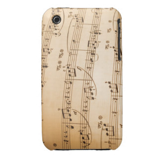 Music Notes Background Case-Mate iPhone 3 Cases