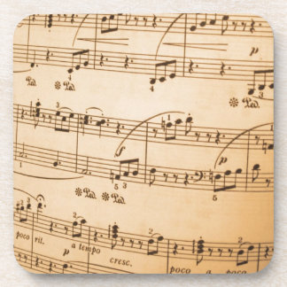 Music Notes Background Drink Coasters