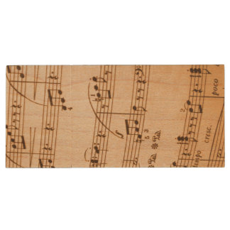 Music Notes Background Wood USB 3.0 Flash Drive