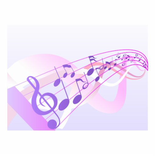 Music Notes Background Photo Cut Out