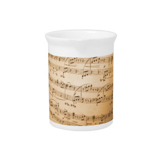 Music Notes Background Pitcher
