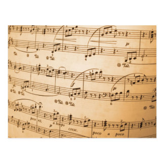 Music Notes Background Postcard