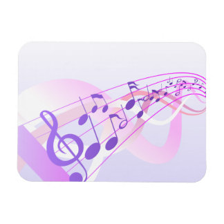 Music Notes Background Rectangle Magnet