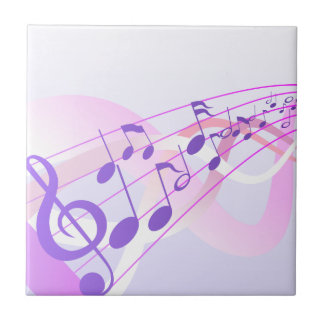 Music Notes Background Small Square Tile