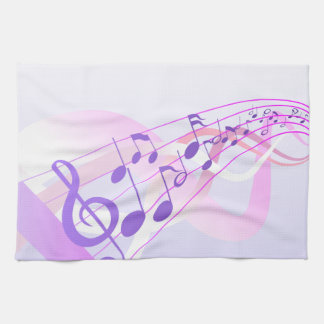 Music Notes Background Tea Towel