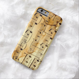 Music Notes Barely There iPhone 6 Case