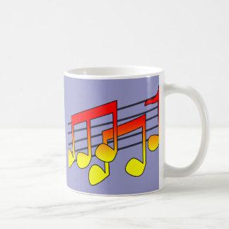 Music Notes Basic White Mug