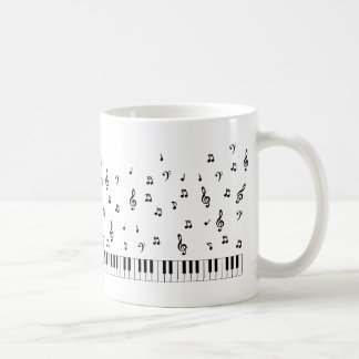 Music Notes Basic White Mug