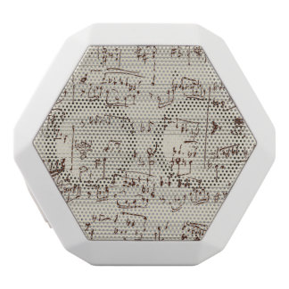 Music notes white boombot rex bluetooth speaker