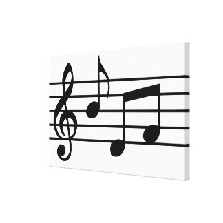 Music Notes Gallery Wrap Canvas