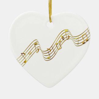 Music Notes Ceramic Heart Decoration