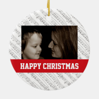 Music Notes Christmas Family Ornament