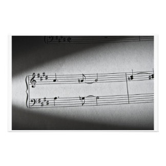 Music Notes Customized Stationery