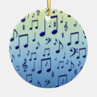 Music notes christmas tree ornaments