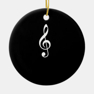 music notes christmas ornament