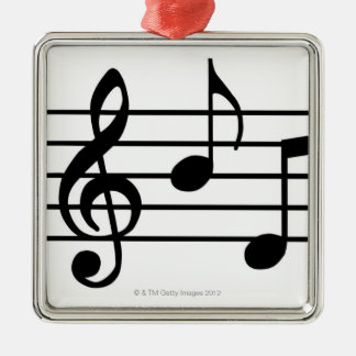 Music Notes Christmas Ornaments