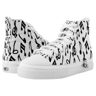 Music Notes Design Printed Shoes