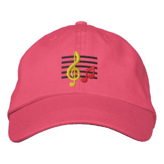Music Notes Embroidered Hat