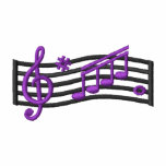 Music Notes Embroidered Shirts