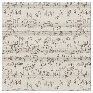 Music notes fabric