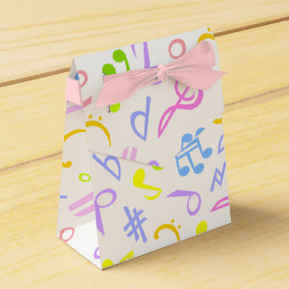 music notes favour box