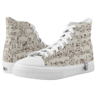 Music notes high tops