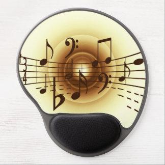 Music notes illustration gel mouse mat