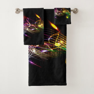 Music Notes in Color for Music-lovers Bath Towel Set